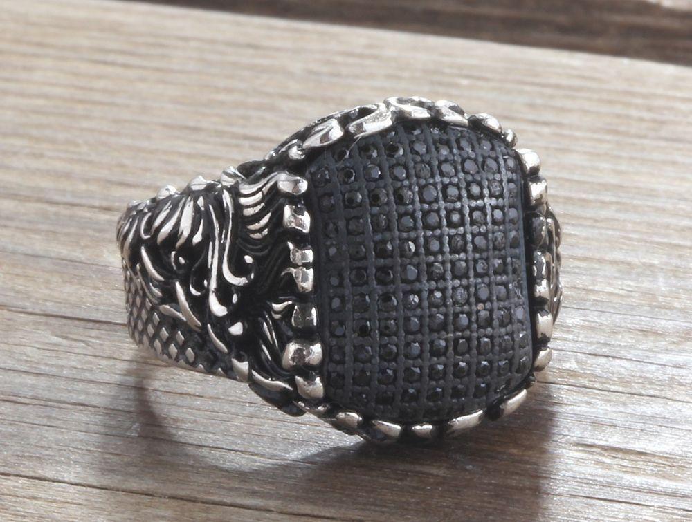 925K Sterling Silver Gemstone Men Ring With Natural Black Onyx  #IstanbulJewellery #Statement