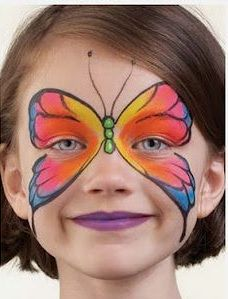 faire un maquillage papillon sur le visage pour halloween maquillage enfants maquillage. Black Bedroom Furniture Sets. Home Design Ideas