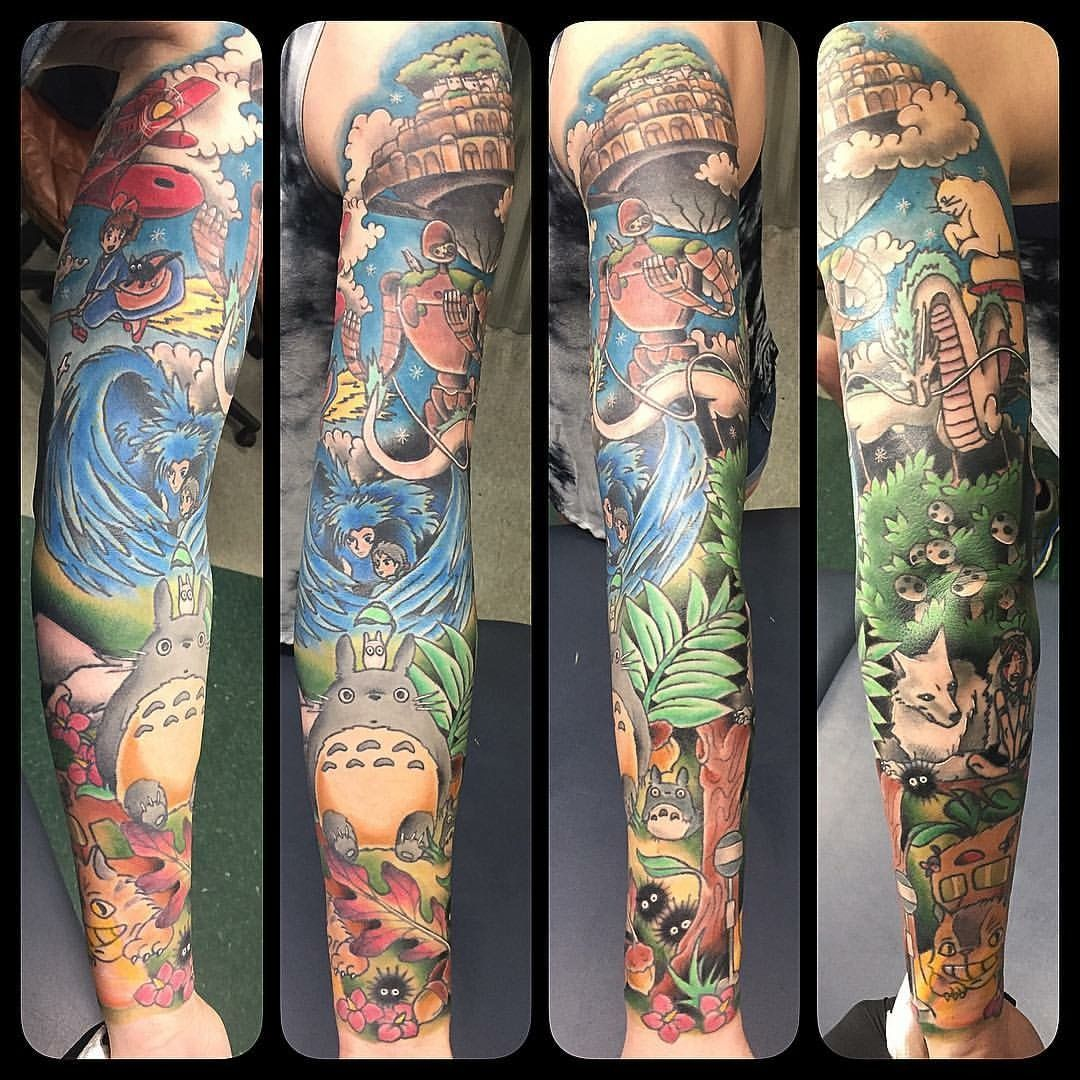 ecee26c826811 Studio Ghibli tattoo sleeve | Tattoos | Ghibli tattoo, Studio ghibli ...
