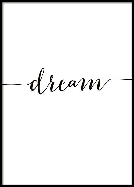 I Have A Dream Poster In De Groep Posters Posters Met Tekst Bij Desenio Ab 10506 Quote Prints Bedroom Posters Quote Posters