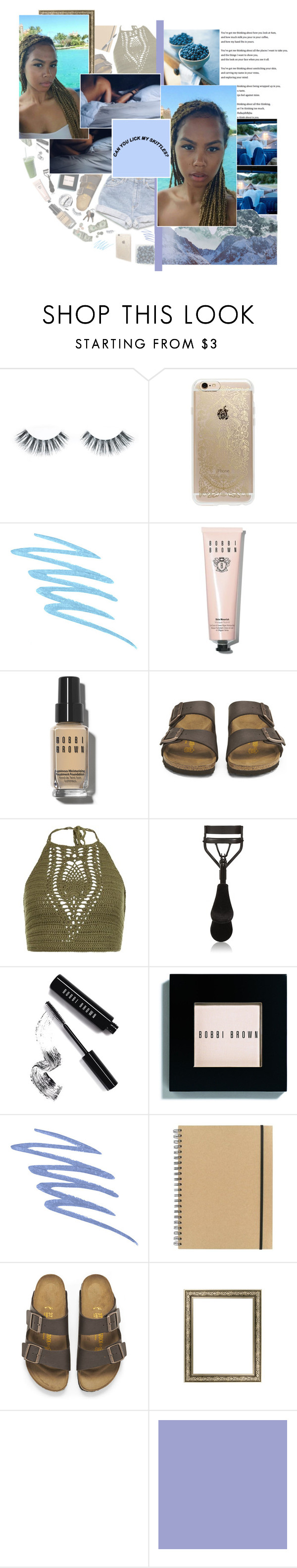 """""""I dedicate.."""" by m-iyagi ❤ liked on Polyvore featuring Napoleon Perdis, Rifle Paper Co, Mally, Bobbi Brown Cosmetics, Birkenstock, New Look, Eyeko, Stila, Paperchase and Sharpie"""