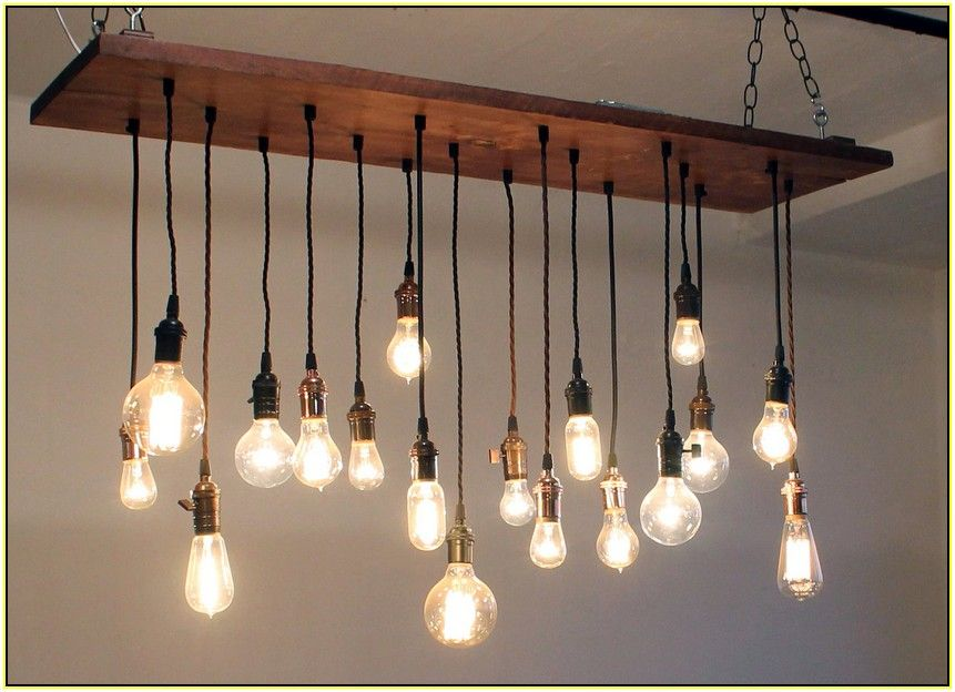 Classy Of Hanging Bulb Chandelier Edison Home Design Ideas