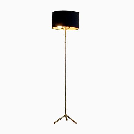 Bronze Bambus- Optik Stehlampe, 1950er Jetzt bestellen unter