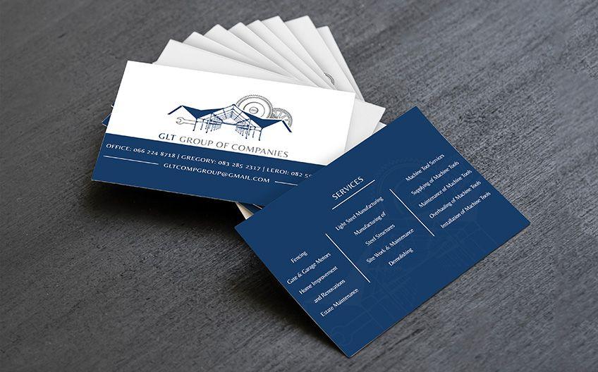 Glt Group Of Companies Business Card Design Company Business Cards Portfolio Web Design Business Card Design