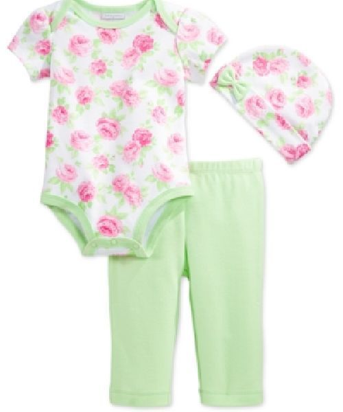 NWT Baby Girls  3-Piece Bodysuit Leggings   Hat Set Size Newborn 3-6-9-12  Month  FirstImpressions  Everyday 2814b6497da3