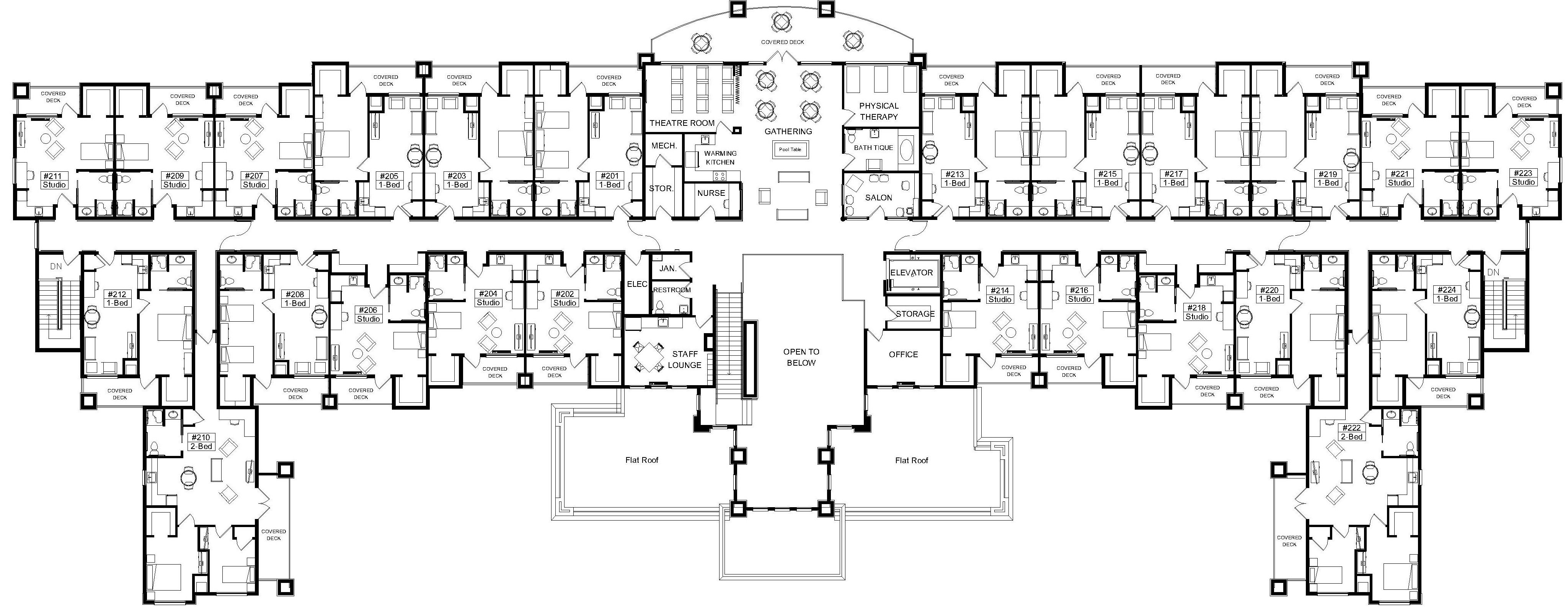 Second floor plan arch pinterest arch for Retirement home plans