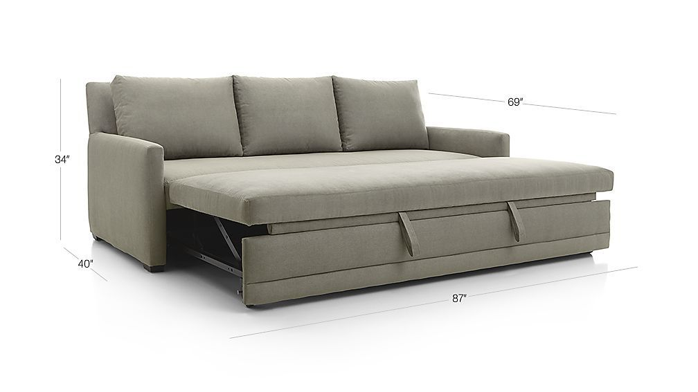 reston queen sleeper sofa crate and