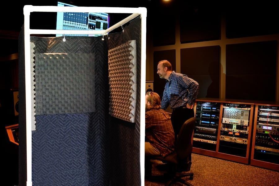 vocal booth noise reflection echo eliminator stand in in 2019 theater room pinterest. Black Bedroom Furniture Sets. Home Design Ideas