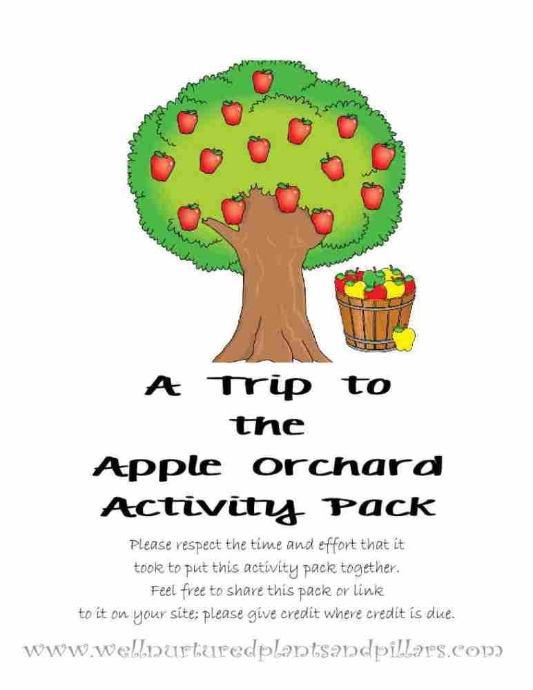 Freebie Friday Apple Orchard Field Trip Printable Pack Travel And