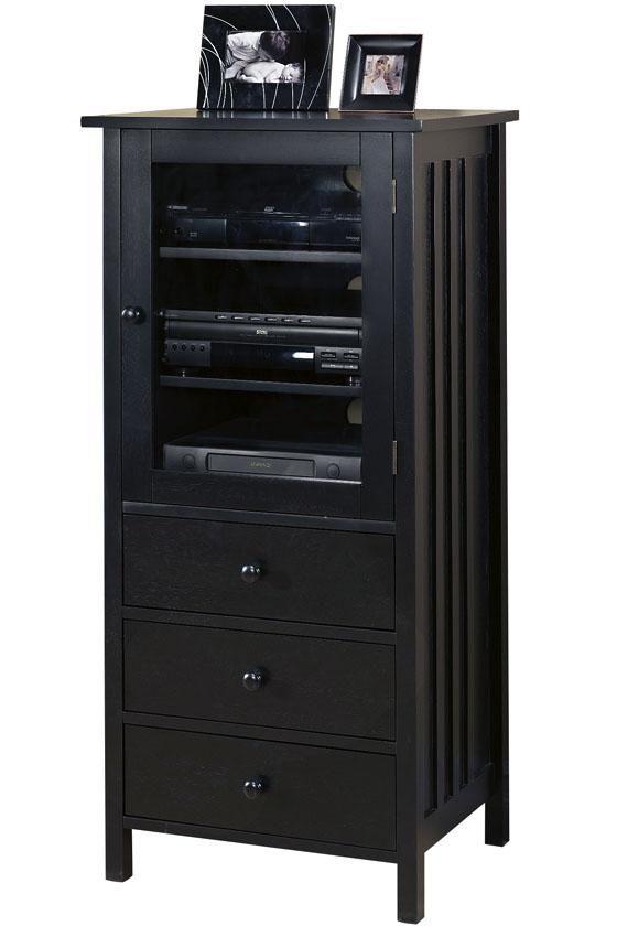 Black Mission Style audio cabinet | Mission | Pinterest ...