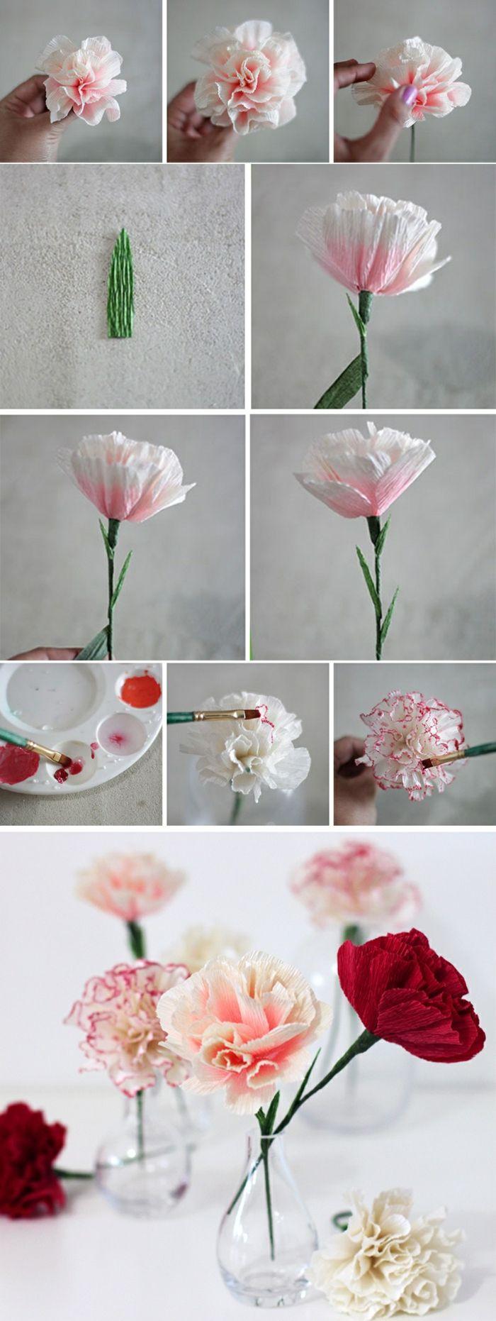 1001 ideen wie sie papierblumen basteln k nnen basteln pinterest blumen papier und basteln. Black Bedroom Furniture Sets. Home Design Ideas