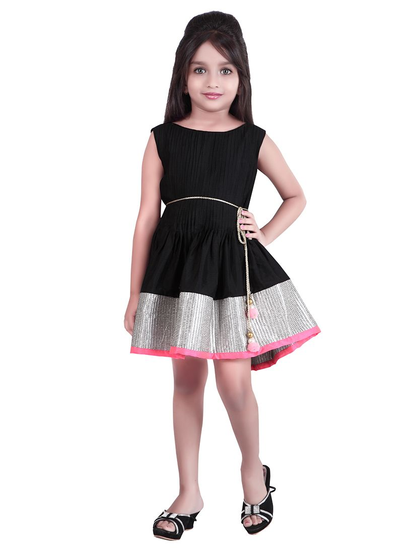 Black #Cotton #Silk Kids #Indowestern Dress | Kids Collections ...