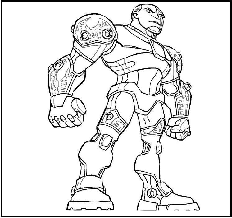 Cyborg from justice league coloring sheet dc comics - Coloriage dc comics ...