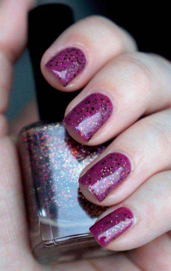 Glitter Nail polish Cherry Topping by Let it glitter! @ Etsy | NAil ...