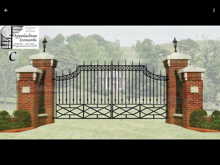 digital drawing estimate of estate entrance gate design