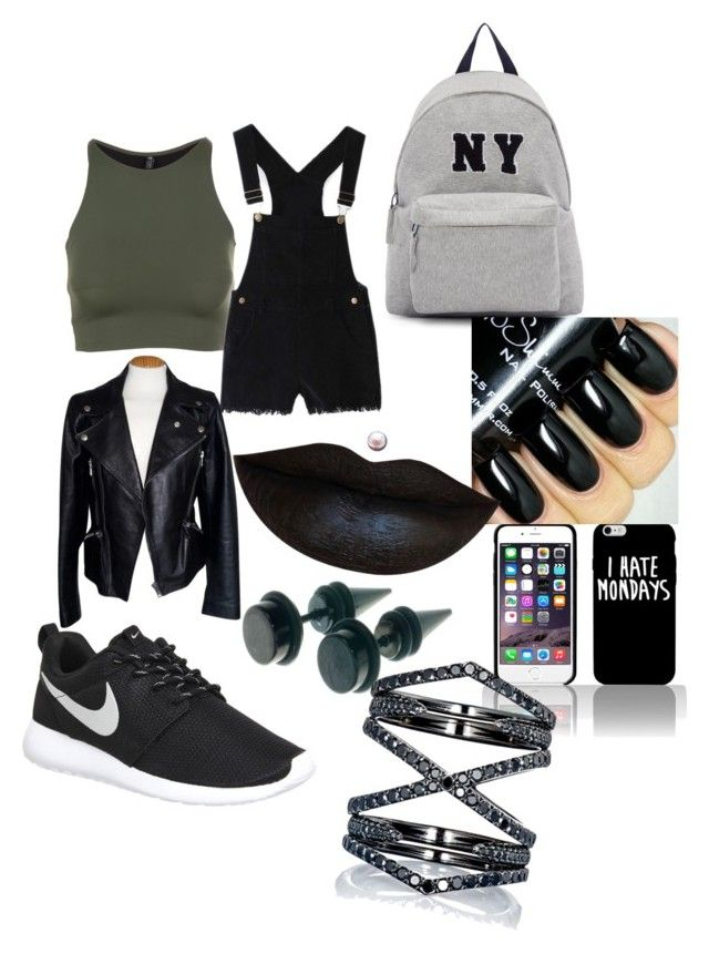 """""""I hate Monday 's """" by onomeosiohxox ❤ liked on Polyvore featuring Onzie, NIKE, Joshua's, Eva Fehren, Alexander McQueen, women's clothing, women, female, woman and misses"""