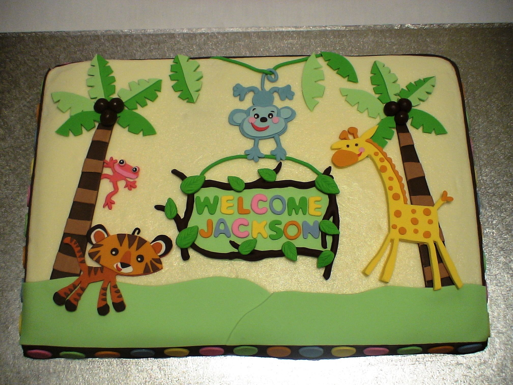 Discount Fisher Price Baby Shower Jungle | Fisher Price Rainforest Baby  Shower Cake