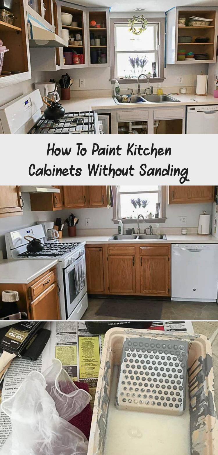 How to paint kitchen cabinets - no sanding required! #kitchencabinets #kitchencabinetideas #kitchencabinetsmakeover #HomeDecorDIYVideosApartment #HomeDecorDIYVideosCheap #HomeDecorDIYVideosBedroom #HomeDecorDIYVideosOnABudget #HomeDecorDIYVideosIdeas