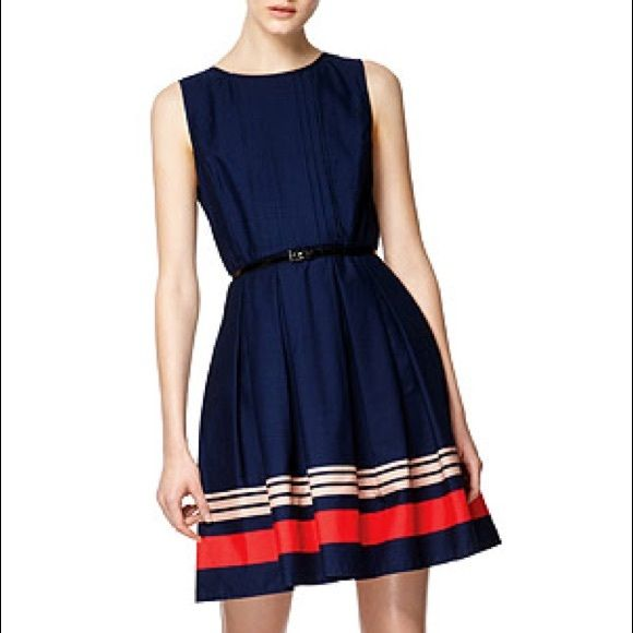 Jason Wu for Target poplin dress 2 Adorable Jason Wu for Target dress size 2. Navy with red and pink details. Dress is fitted through the bodice and has a full skirt with pleating. It even has pockets! Back zip. No belt, that's just how the stock photo styled it. Super cute!!! Jason Wu for Target Dresses