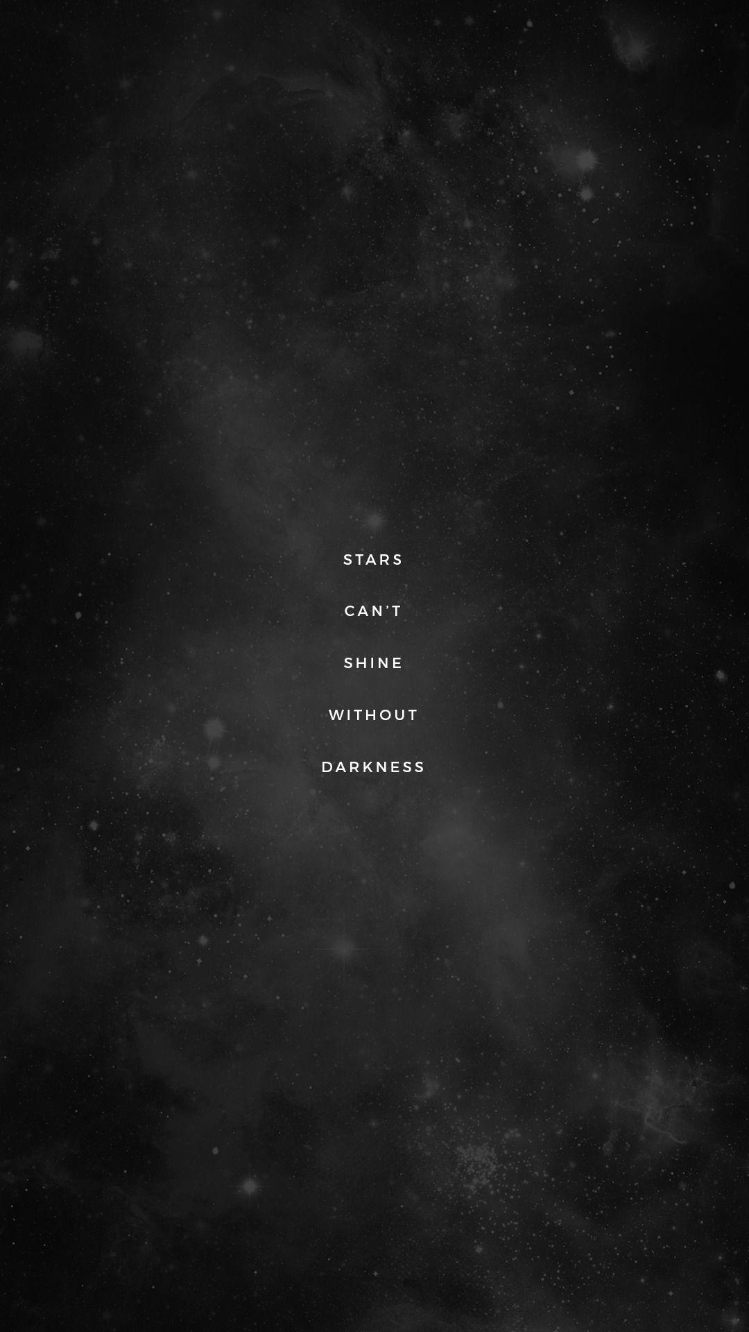 Lockscreens No 196 Stars Quotes Font Dark Wallpaper