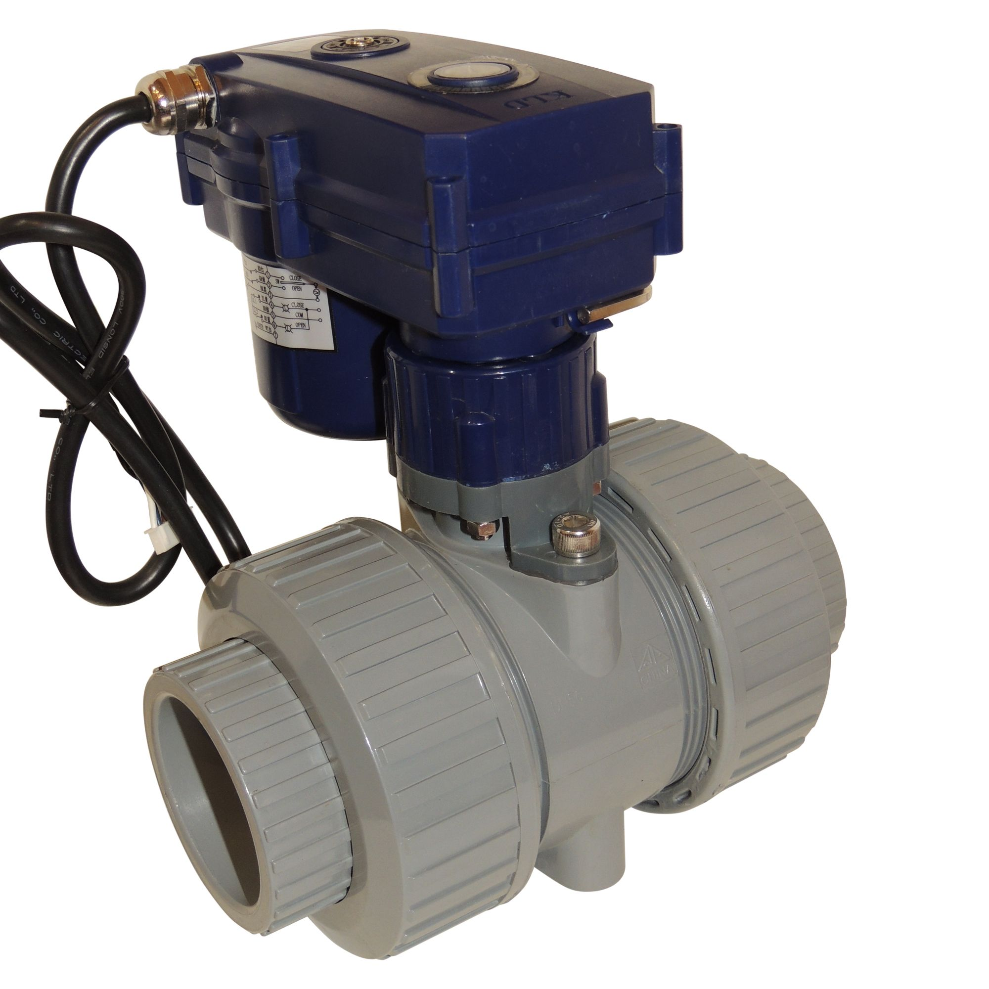 Very High Torque Motorized Ball Valve With Pvc Body In 1 1 2 2 Quiet Strong Reliable And Economic Water Treatment Valve Home Appliances