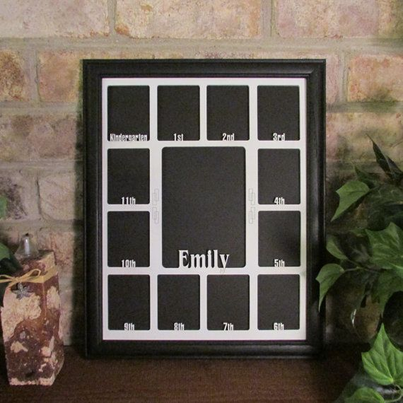 School Years Frame with Name Graduation Collage K-12, Wall Decor ...