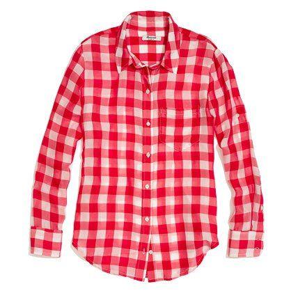 e69ac08f9c7979 silk boyfriend shirt in gingham