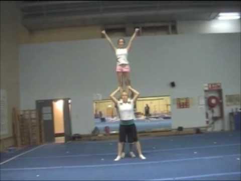 cheerleading stunt step up shoulder stand  cheerleading
