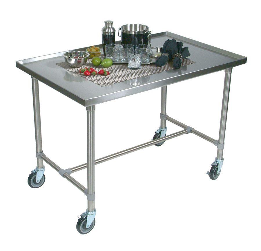 John Boos Maple And Stainless Cucina Elegante Kitchen Cart: John Boos Cucina Mariner Stainless Steel Serving Cart