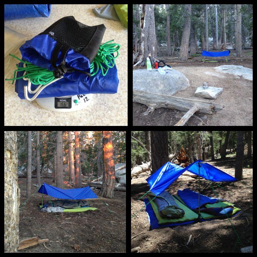 16 oz Walmart Tarp Shelter  sc 1 st  Pinterest & 16 oz Walmart Tarp Shelter   Ultralight DIY Backpacking Gear ...