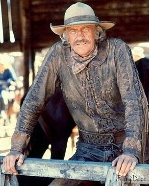 """""""The Macahans"""" (ABC-TV movie) - James Arness as mountain man 'Zeb Macahan' - Directed by Bernard McEveety - MGM."""