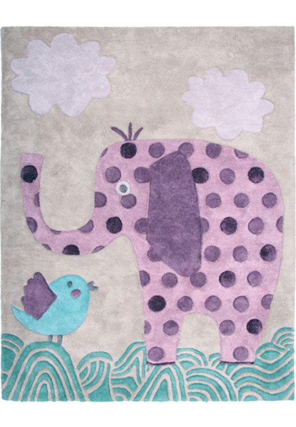 Tapis Arno Tapis Enfant En Coton Et Viscose Avec Dessin D Elephant