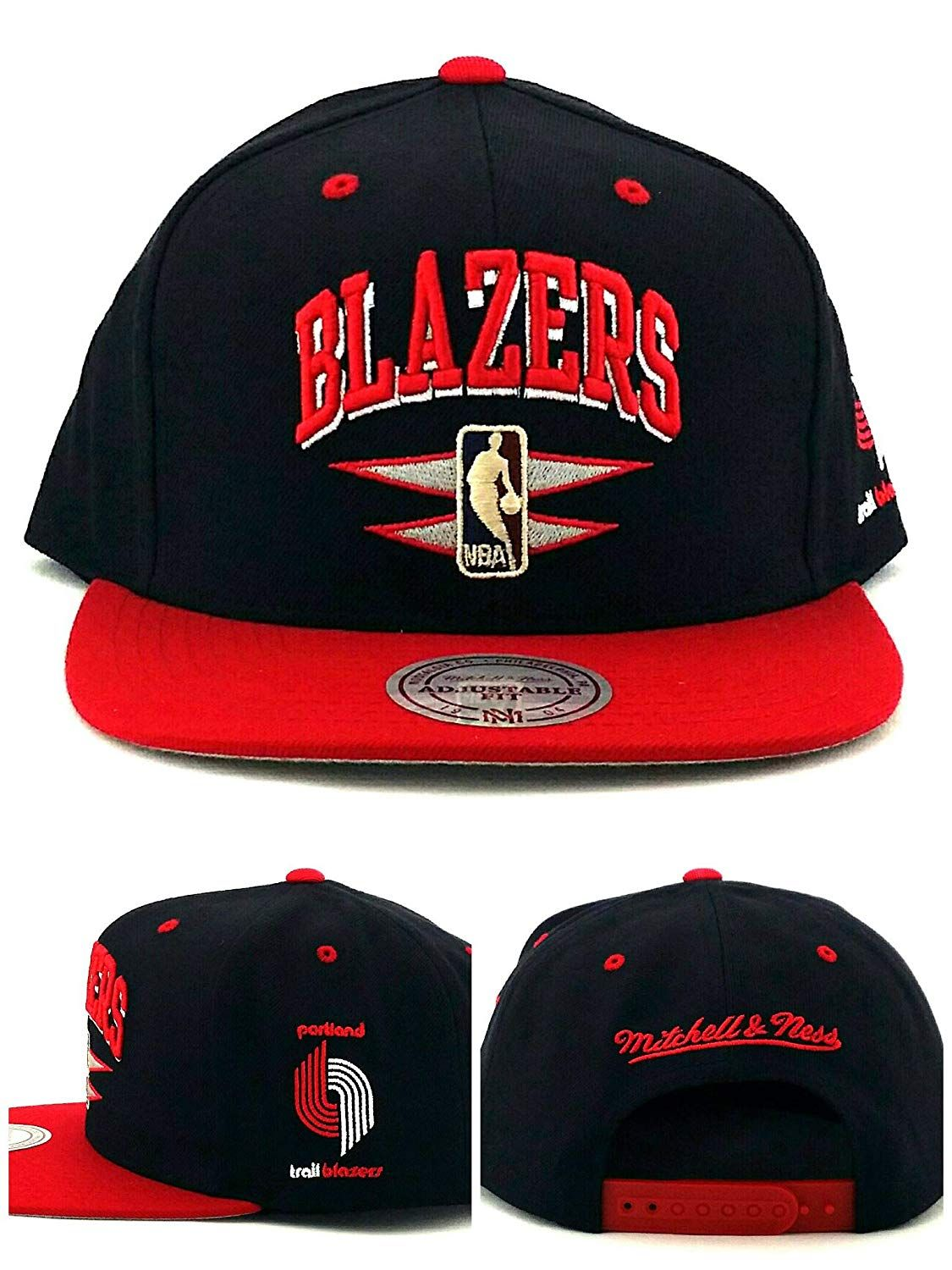on sale be2fa 551c4 Mitchell   Ness Portland Trail Blazers New Double Diamond Black Era Snapback  Hat,  31.79