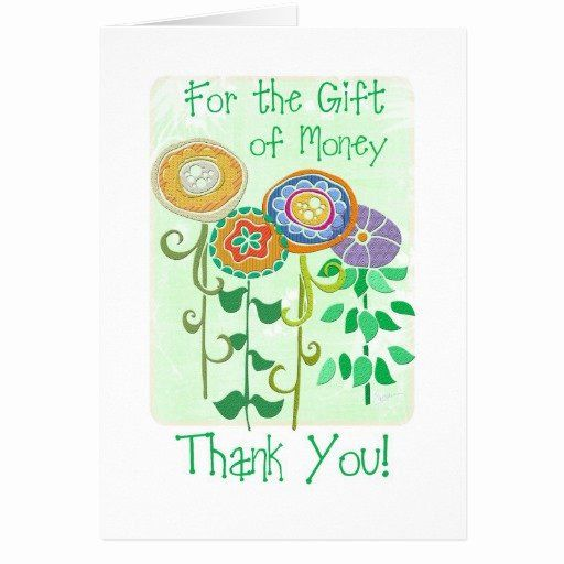 Thank You Card for Money Luxury Thank You for the Gift Of ...