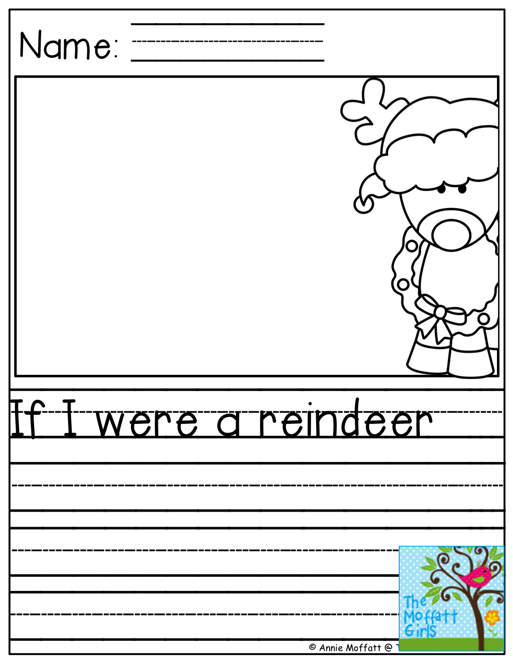 If I Were A Reindeer And Tons Of Other Great Printables Christmas Teaching Preschool Journals Reindeer Writing Activities [ 1325 x 1024 Pixel ]