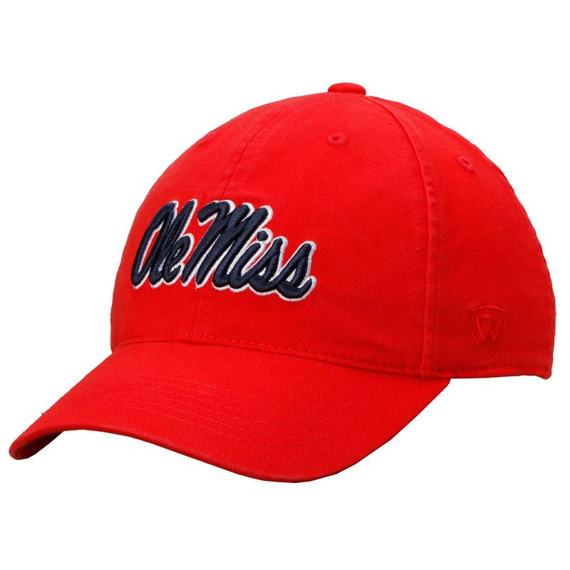 Ole Miss Rebels Top of the World Relaxer 1Fit Flex Hat - Red