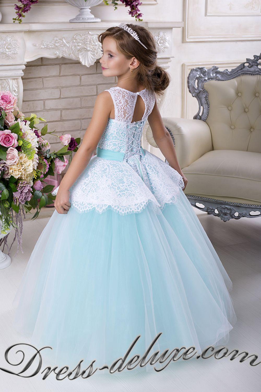 50cb4af6c359 Платье Дороти. Цвет белый/бирюза - Детские нарядные платья | детские ...