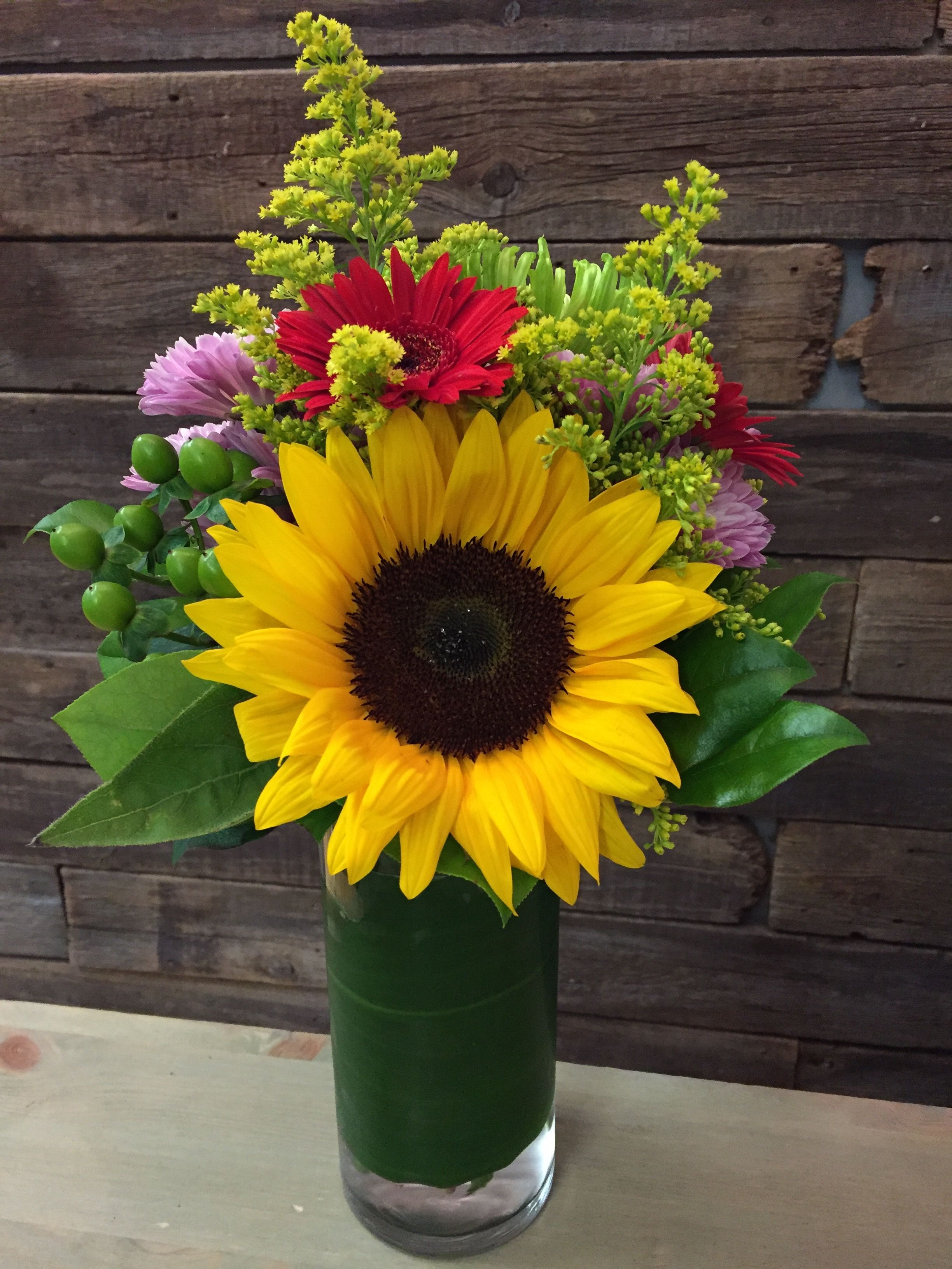 Brightly coloured flower arrangement | Floral Arrangements ...
