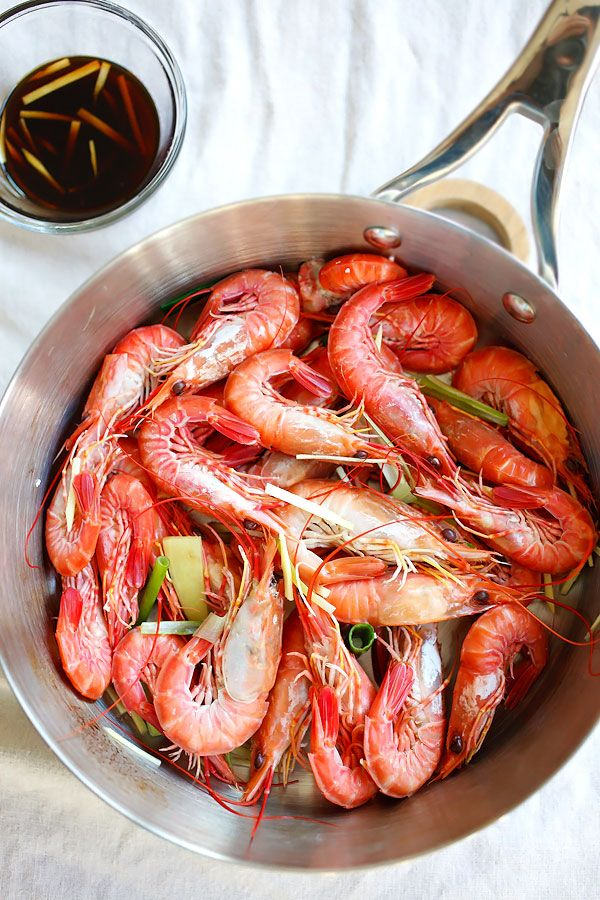 White Boiled Shrimp Asian Food RecipesShrimp RecipesChinese