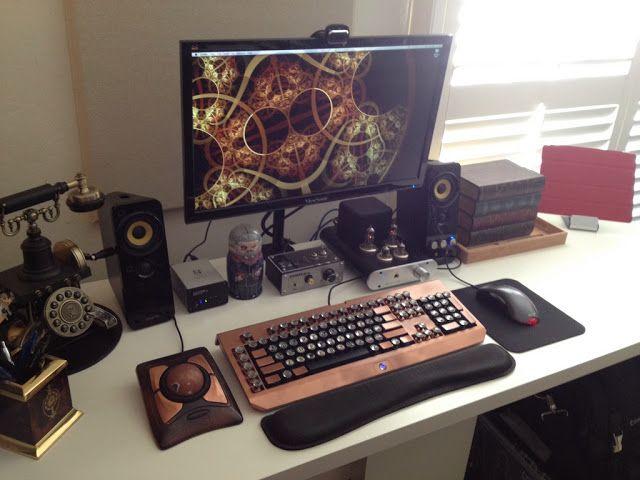 Whoa Awesome Steampunk Desk Set Up Steampunk Steampunk