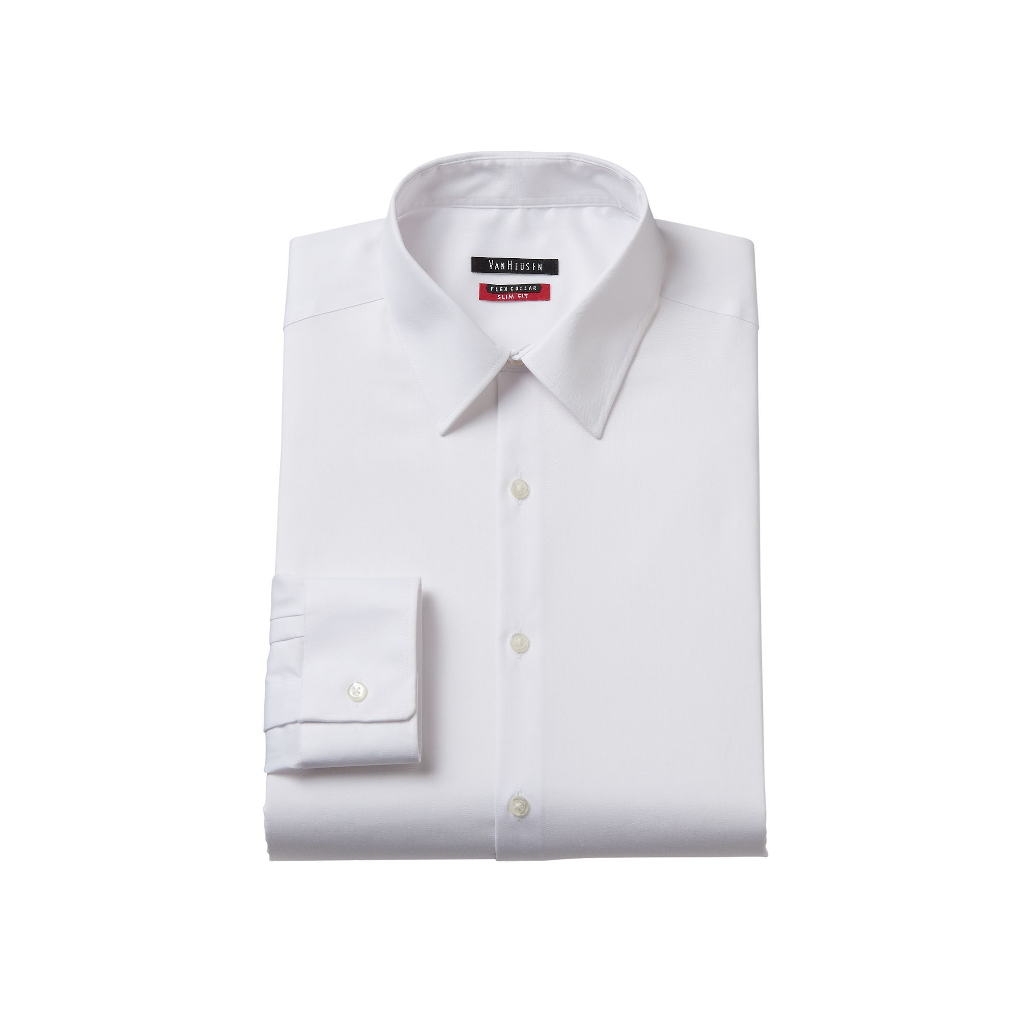 Mens Van Heusen Slim Fit Flex Collar Stretch Dress Shirt Size