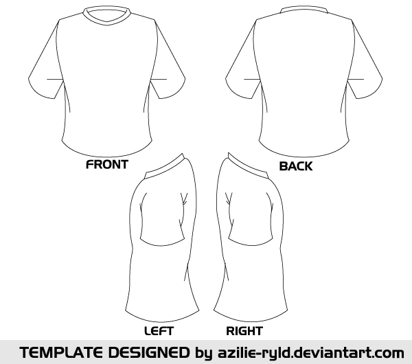 Blank Tshirt Template Vector Front And Back Tshirt Template