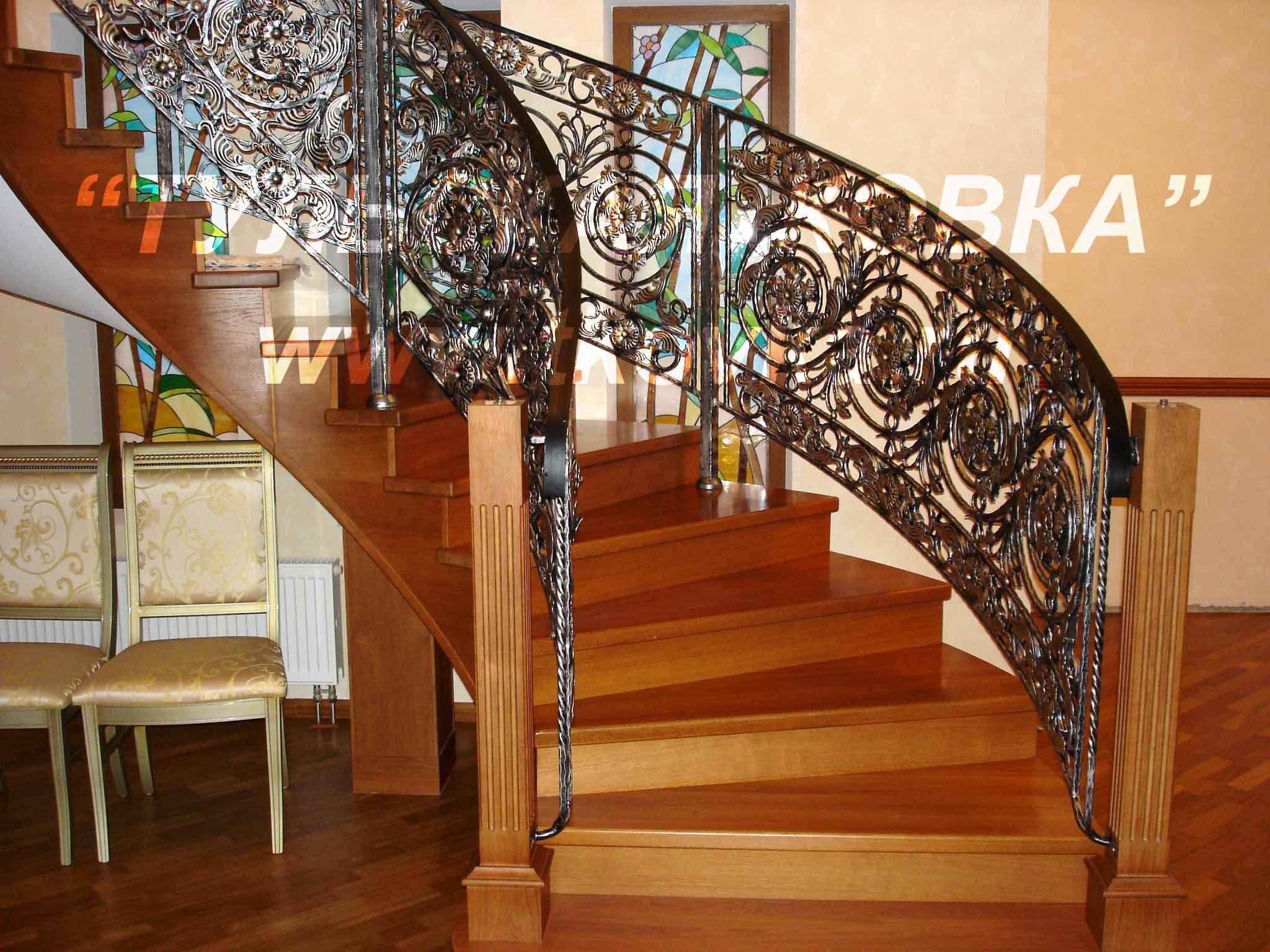 Wrought Iron Spiral Railings Forging  ~ Barandillas De Forja Para Escaleras De Interior