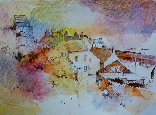 1160 Cellardyke Painting Art Watercolor