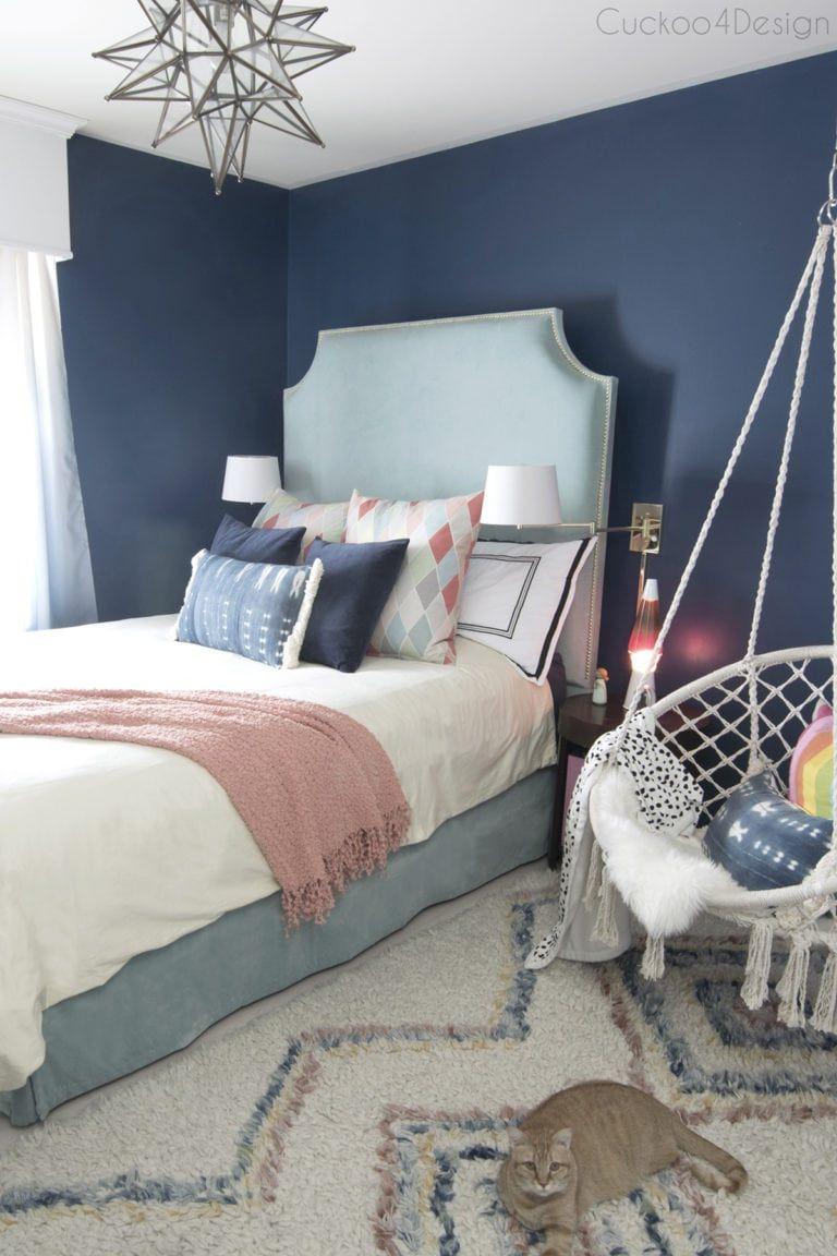 Dark Blue Girls Room (med bilder)   Soverom ideer, Soverom ...