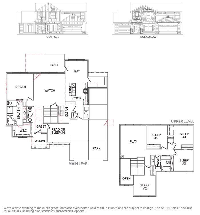 View Floor Plan : Vallejo 2700 : CBH Homes