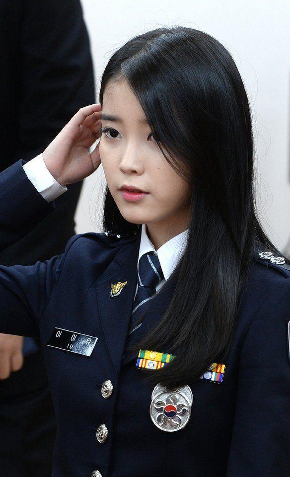 8 Gorgeous Photos Of IU The Senior Police Officer!   Military girl, Military women, Women in tie