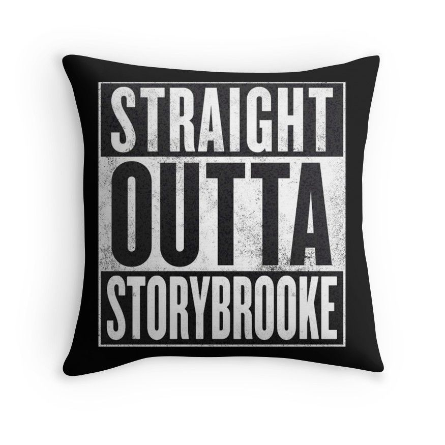 'Straight Outta Storybrooke' Throw Pillow by NemJames