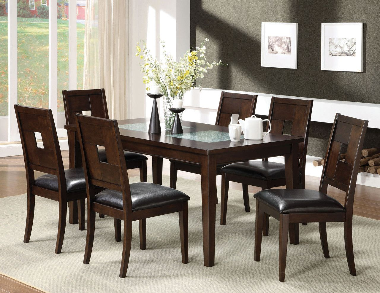 CM3093T Dining Table With 4 Chairs 5PcSet