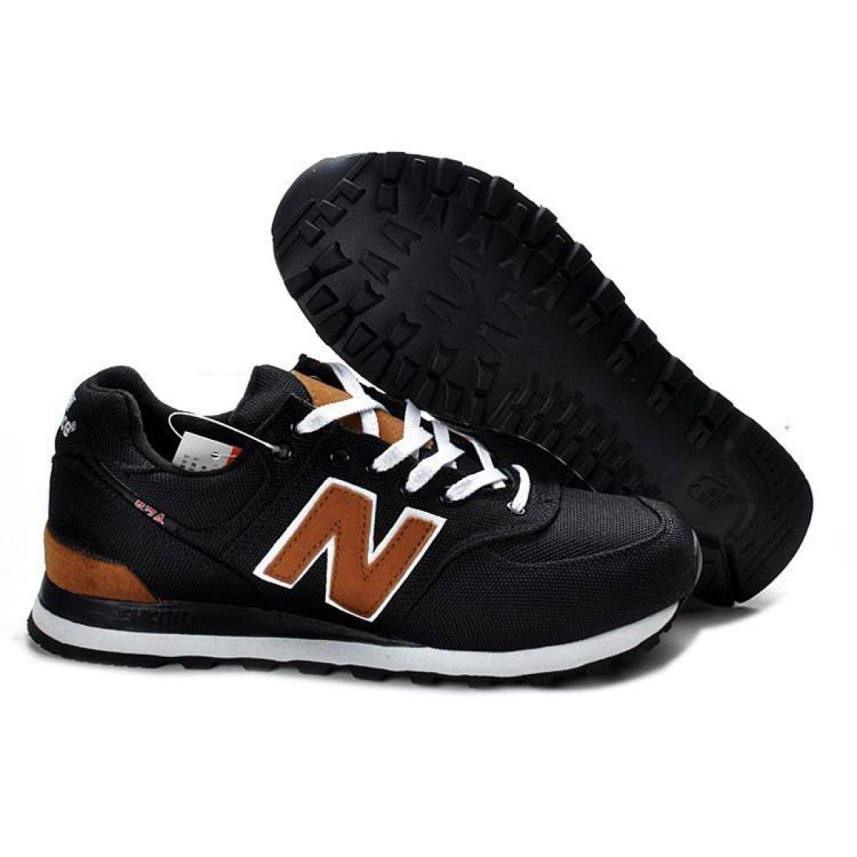 Poner la mesa eterno esponja  New Balance 574 Womens NB ML574PBK Retro Black Brown Shoes   Running shoes  for men, Womens backpack, New balance 574 womens